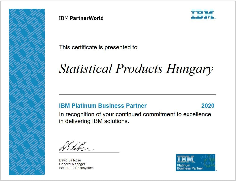 IBM Business Partner Certificate 2020