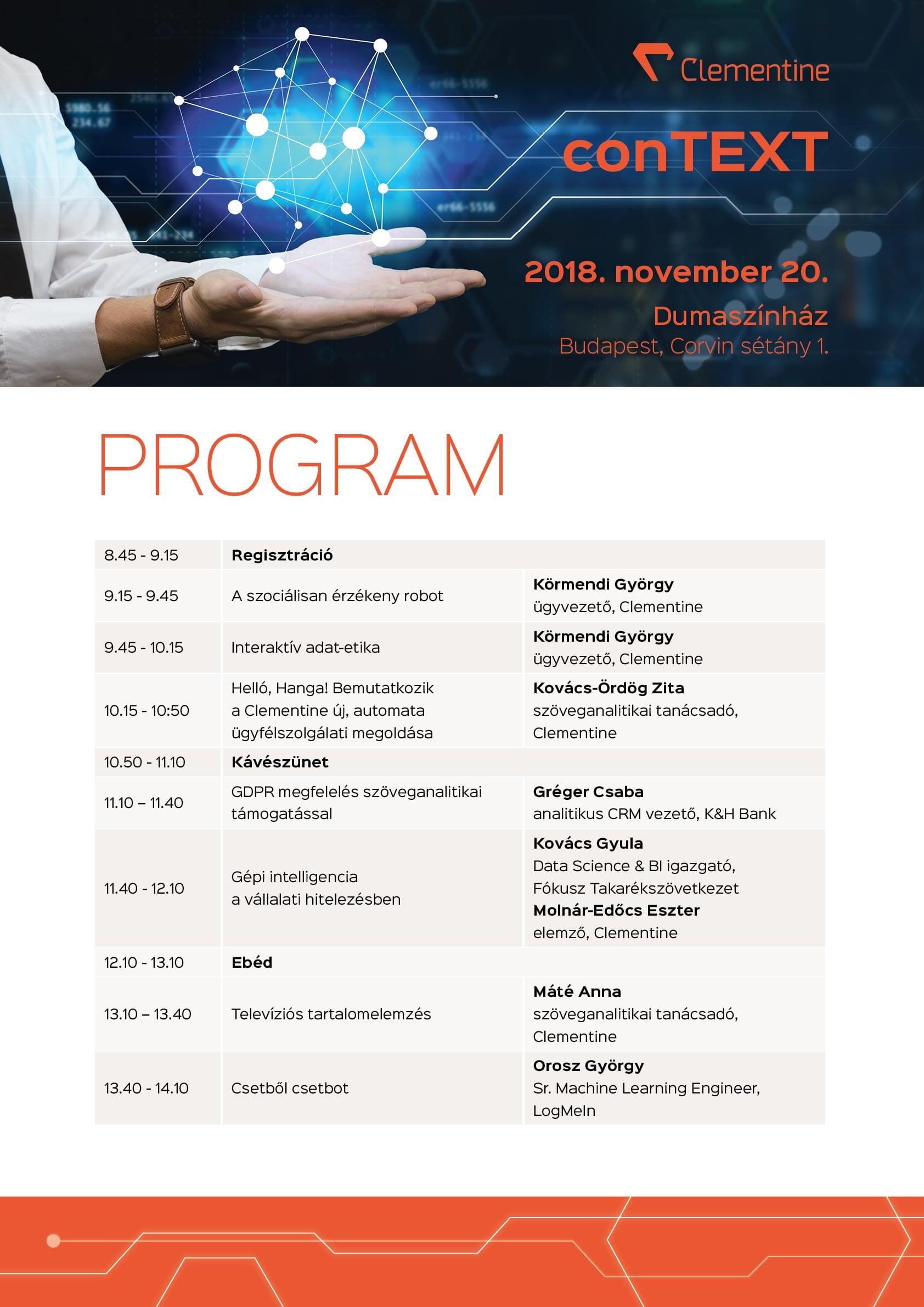 conTEXT 2018 program